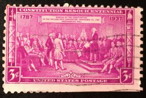 798 Constitution Sesq., Circulated Single, Vic's Stamp Stash