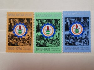 MALAYSIA 1975 25th ANN OFMALAYSIAN TRADE UNION CONGRESS IN FINE  MINT CONDITION