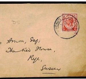 Malaya Straits Cover SINGAPORE *TANGLIN* CDS GB Rye c1935 {samwells-covers}W538b