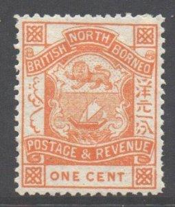 North Borneo Scott 36 - SG37, 1888 Arms 1c MH*