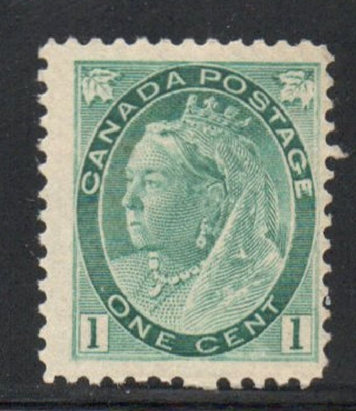 Canada Sc 75 1898 1c gray green Victoria numeral issue stamp mint NH