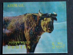 BUHTAN STAMP-COLORFUL 3D STAMP-COW- MINT STAMP- VERY FINE