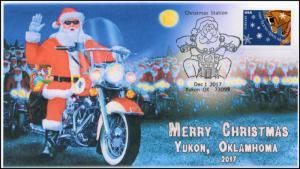 17-367, 2017, Christmas, Yukon OK, Pictorial, Event Cover, Santa, Motorcycle