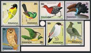 Rwanda 943-950,MNH.Michel 1019-1026. Birds of the Nyungwe Forest.1980.