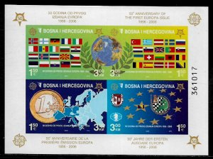 Bosniak #529e MNH IMP S/Sheet - Europa Stamps - 50th Anniversary (k)