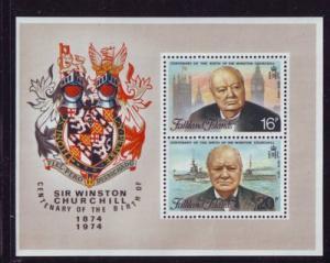 Falkland Islands Sc 236a 1974 Churchill stamp sheet mint NH