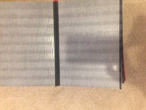 Red Germany Klaser Stock Book 64 (32x2) 9-row Black Pages Used See description