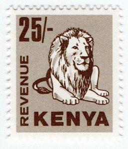 (I.B) KUT Revenue : Kenya Duty 25/- (lion)