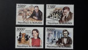 Burundi 2011. -  Chess masters ** MNH complete set (perforated)