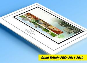 COLOR PRINTED GREAT BRITAIN FDCs 2011-2019 STAMP ALBUM PAGES (274 illust. pages)
