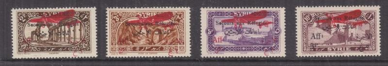 SYRIA, 1926 War Refugees Fund, Air set of 4, lhm.