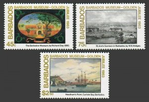 Barbados 620-622,MNH.Michel 594-596. Museum-50,1983.By Richard Day,W.S.Hedges.