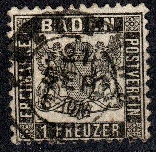 Baden #19 F-VF  Used CV $15.00  (X4064)