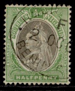 SOUTHERN NIGERIA EDVII SG1a, ½d sepia & green, FINE USED.