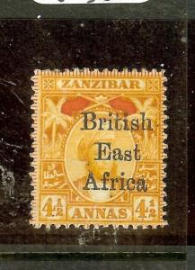 BRITISH EAST AFRICA (P3010B) 4 1/2A  SG83B    MOG