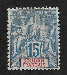 FRENCH SUDAN SC# 9  FVF/MOG  1894