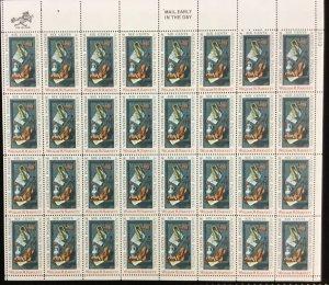 1386    William M Harnett  Artist    MNH 6¢ Sheet of 32   Issued in 1969