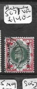 BECHUANALAND  (P2708B) KE 1/- SG 71  VFU