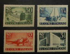 Finland 215-18. 1938 Postal System anniversary