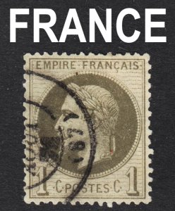 France Scott 29a  olive green shade  VF used.