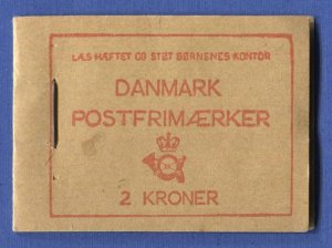 DENMARK H.78 2 kr Complete Booklet of Five Panes, MNH