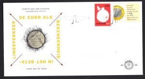 Netherlands 1999 FDC 396  kwartje