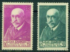 FRANCE Scott B68-B69 MH* 1938 Charcot issue CV $17.50