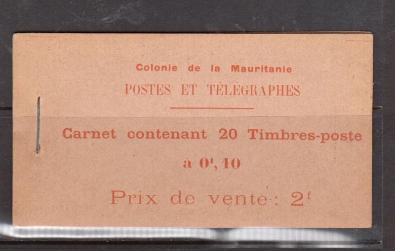 Mauritania #23 Mint Complete Booklet Containing Five Panes - Never Hinged
