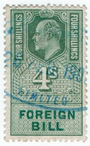 (I.B) Edward VII Revenue : Foreign Bill 4/-