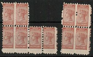 56838 - SOUTH AUSTRALIA - Stanley Gibbons # 182  MNH x 10 with PERFORATION ERROR