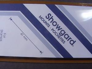 SHOWGARD MOUNTS # 41--215MM LONG x 41MM WIDE---15 STRIPS---BLACK /NEW