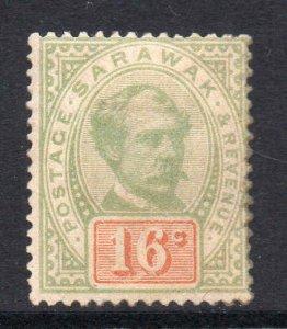 Sarawak 1888 Postage Revenue 16c SG 17 mint CV £70
