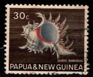 PNG Papua New Guinea Scott 275 Used shell stamp few short perfs at bottom