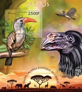 TOGO 2013 SHEET HORNBILLS BIRDS tg13210b