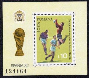 Romania 1981 World Cup Soccer Championship Mint MNH Miniature Sheet SC 3048