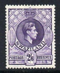 Swaziland 1938 KGVI 2/6d perf 13½x13 SG 36 mint