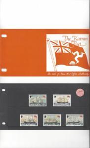 Isle of Man 254-8 Karran Fleet  MNH Presentation Folder