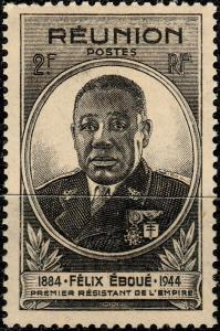 RÉUNION - 1945 - Yv.260 2fr noir Félix Éboué NEUF**