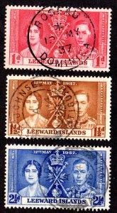LEEWARD ISLANDS 100-102 USED SCV $4.00 BIN $1.60 ROYALTY