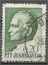 YUGOSLAVIA, 1967, used 0.20p, Marshal Tito Scott 862