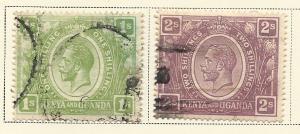 Kenya & Uganda  #29-30 1sh & 2sh King George V (U) CV $21.00
