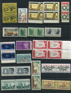 EARLY US MINT #1501 and  higher 34 Stamps total  (stock page not included)