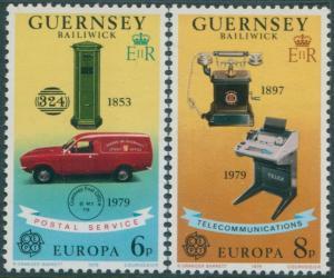 Guernsey 1979 SG201-202 Europa communications set MNH