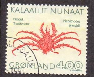 Greenland  #256  used  1993  crabs   4k
