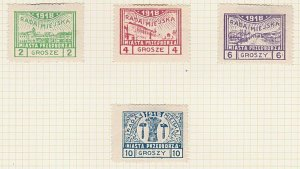 POLAND 1918 PRZEDBORZ local post set hinged mint............................A614