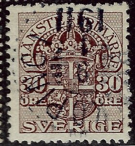 Sweden SC O37 Used F-VF...fill a solid spot...