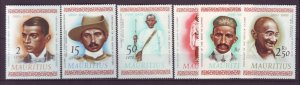 J21991 Jlstamps 1969 mauritius set mh #357-62 famous people