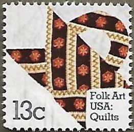 United States #1745 13c Folk Art USA: Print Quilt MH (1978)