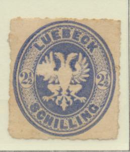 Lubeck (German State) Stamp Scott #11, Unused, No Gum - Free U.S. Shipping, F...