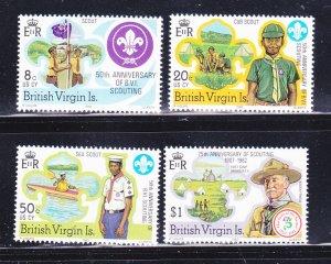 Virgin Islands 438-441 Set MNH Scouts